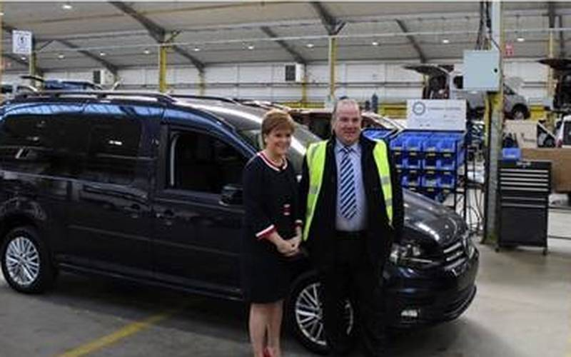 Scotland's First Minister tours Supply Technologies' customer Allied Vehicles